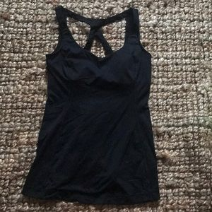 Black lululemon workout top